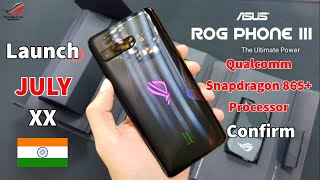 ASUS ROG Phone 3 launch date revealed, Snapdragon 865 SoC and 144Hz refresh rate   Asus Rog 3 India