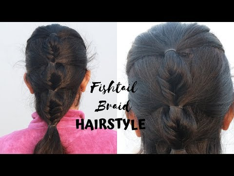 hairtyle-with-fishtail-braid-|-very-elegant-hairstyle-for-teenagers/-college/-office/-party