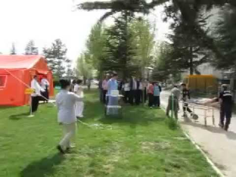 afet tatbikatı - Eskişehir Yunusemre Devlet Hastanesi.MOV