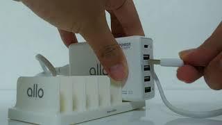 알로(allo) 5포트 PD/QC 지원 USB 고속 멀…