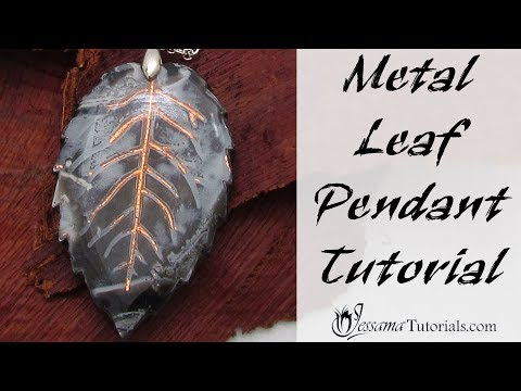 Easy Polymer Clay Project: Metal Leaf Pendant Tutorial