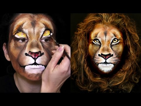 Lion Makeup & Face Painting Tutorial
