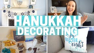 DECORATING MY HOUSE FOR HANUKKAH! Decorate with Me!!!