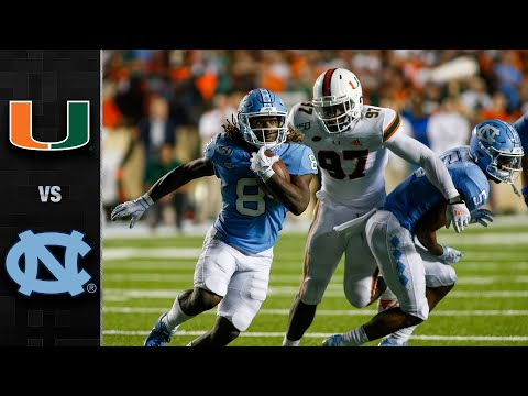 Miami vs. North Carolina Football Highlights (2019)