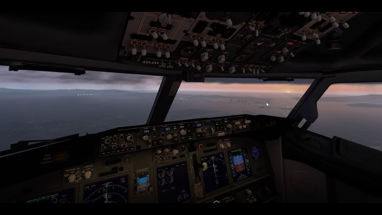 Descent and landing at KSFO - Zibo mod B737-800 with RG mod | XP11 by  fmcprogrmr