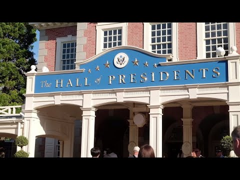 FULL updated Hall of Presidents 2017 with Donald Trump at Walt Disney World