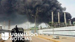 Registran explosión en petroquímica de Coatzacoalcos