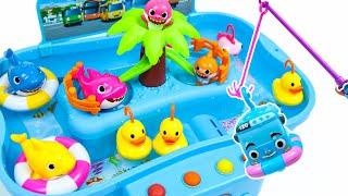 아기상어 베이비타요 낚시놀이 워터파크 물놀이 장난감 Baby Shark fishing and Tayo Water Park Toys - 꿀벌튜브