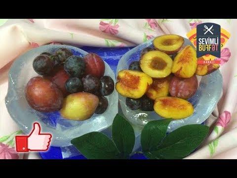 Möhtəşəm buzlu meyvə qabı (Ваза для фруктов из льда) (Muhteşem buzlu meyve tabağı)