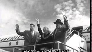 Marilyn Monroe et Di Maggio partent en voyage de Noce - chutes