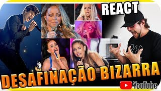 DESAFINAÇÃO BIZARRA com Katy Perry, Demi Lovato, Shawn Mendes, Whitney Houston, Miley Cyrus React