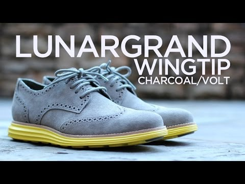 Quick Look: Cole Haan LunarGrand Wingtip - Charcoal/Volt