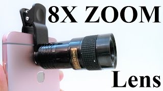 KSIX Clip and Zoom Universal 8X Smartphone Camera Zoom Lens : Hands-on Review