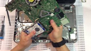 Dell Inspiron 15z Core i3 Teardown Disassembly HOW TO Replace HDD Hard drive Battery and more