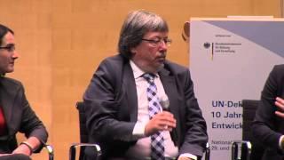 Podiumsdiskussion BNE als gemeinschaftliche Aufgabe - UN-Dekade mit Wirkung