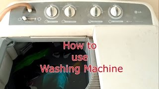 How to Use/Operate New Washing Machine[hindi/Urdu]-Features of Washing Machine,Draining