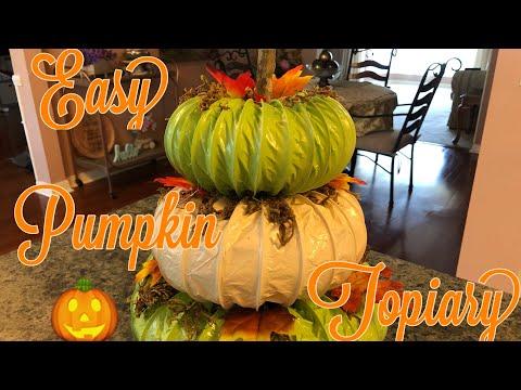 Fall Diy Pumpkin Topiary So Easy 2019