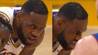 LeBron James' cruel look | Lakers vs Pistons