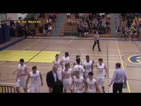 Acton Boxborough Varsity Boys Basketball vs Weston 12/13/16