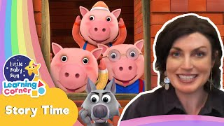 Three Little Pigs Bedtime Story    Story Corner   Learning Videos For Kids   Homeschool Cartoons