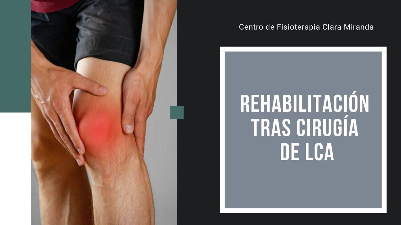 Ejercicios de rehabilitación de ligamento cruzado anterior