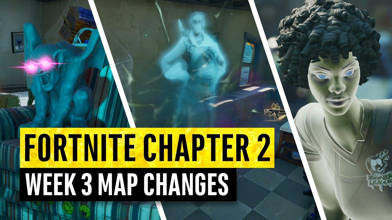 Fortnite | Alle Kapitel 2 Kartenaktualisierungen und versteckten Geheimnisse! WOCHE 2 + video