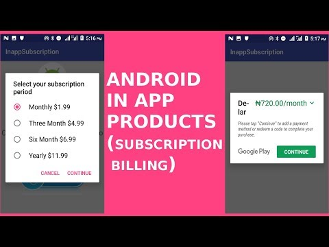ANDROID IN APP PRODUCT (SUBSCRIPTION BILLING)