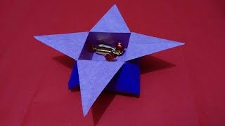 How to make paper Star Candy Box, origami star candy box video