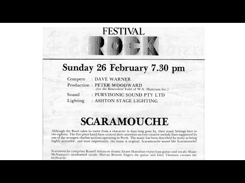 Scaramouche Live at the Festival of Perth 1984 - Lonely Monday