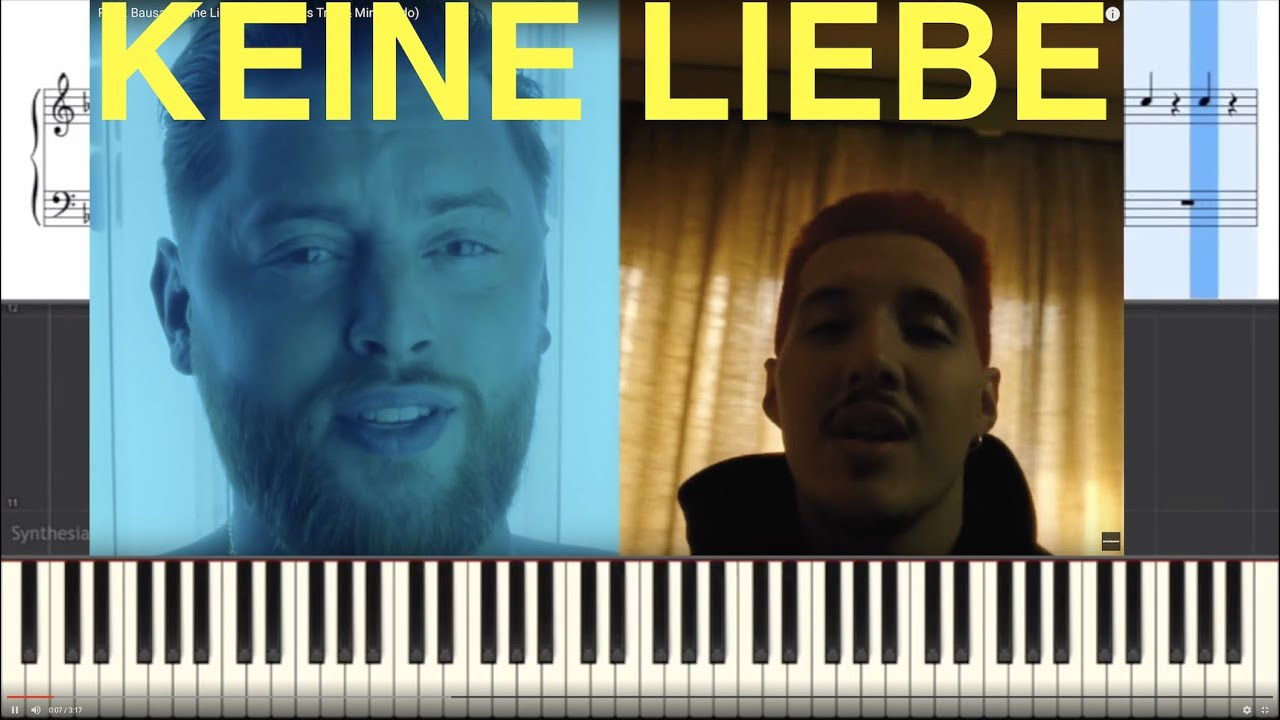 Download Rin X Bausa Keine Liebe Piano Tutorial Instrumental Cover
