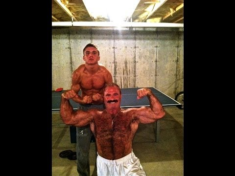 Father and 18yo Son Bodybuilding Together/Posing thumbnail