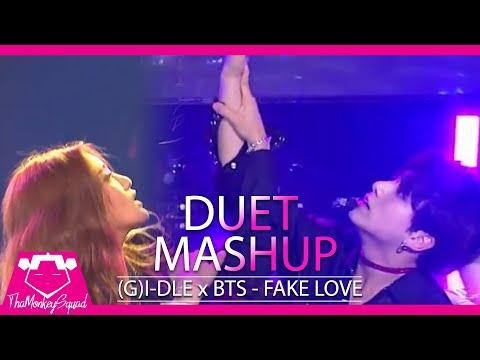 (G)I-DLE & BTS - Fake Love [Duet Kpop Mashup 2018] Kbs Sbs Gayo Mama