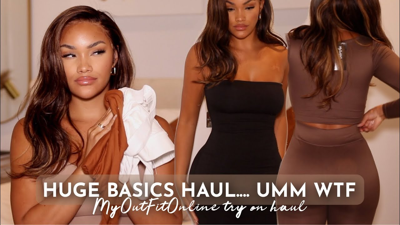 HUGE AFFORDABLE BASICS TRY ON HAUL! $500 MY OUTFIT ONLINE TRY ON HAUL! IS IT WORTH IT?! ALLYIAHSFACE