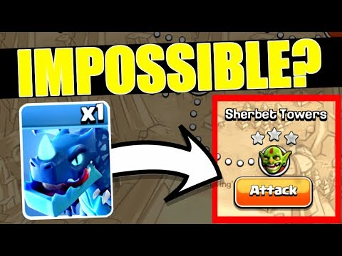 1 ELECTRO DRAGON vs SHERBET TOWERS!! - IMPOSSIBLE!? - Clash Of Clans