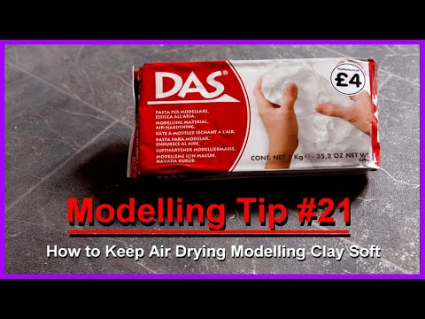 Modelling Tip #21 How to Keep Air Drying Modelling Clay Soft