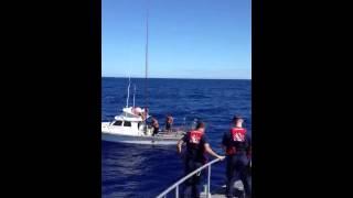 massive ahi tuna capsizes boat