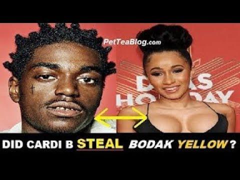 Cardi B Steals Bodak Yellow From Kodak Black 'No Flockin' He DiSS Her But Aint Mad ... (Video)