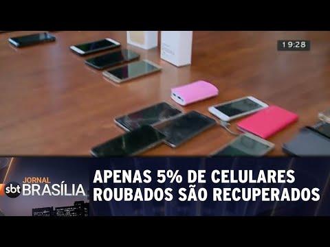 Apenas 5% de celulares roubados são recuperados | Jornal SBT Brasília 13/07/2018