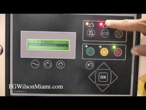 FG Wilson Miami: How to Reset the Emergency Stop Alarm on PowerWizard 1.1