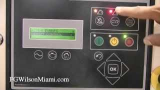 FG Wilson Miami: How to Reset the Emergency Stop Alarm on PowerWizard 1.1