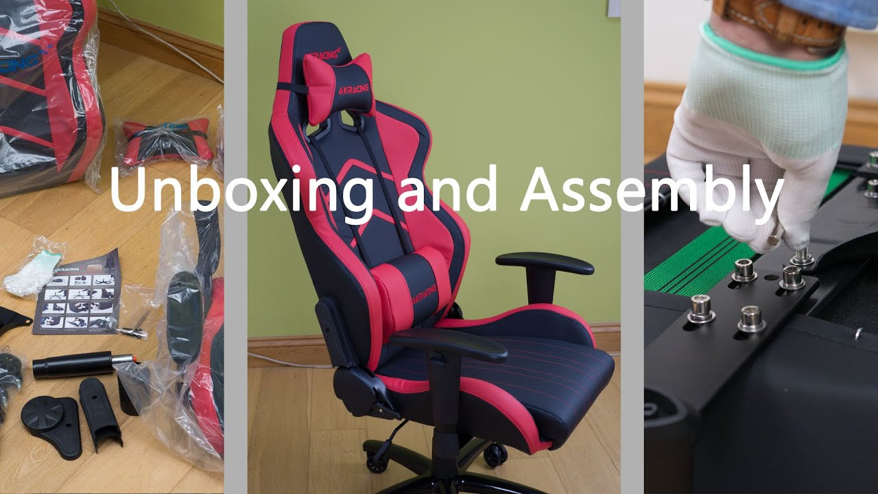 AK Racing Player Gaming esports Chair Unboxing and Assembly - YouTube