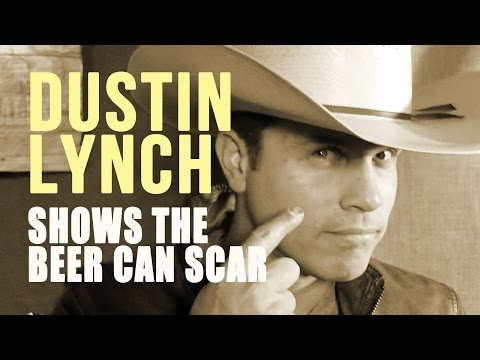 Dustin Lynch Shows the Beer Can Scar