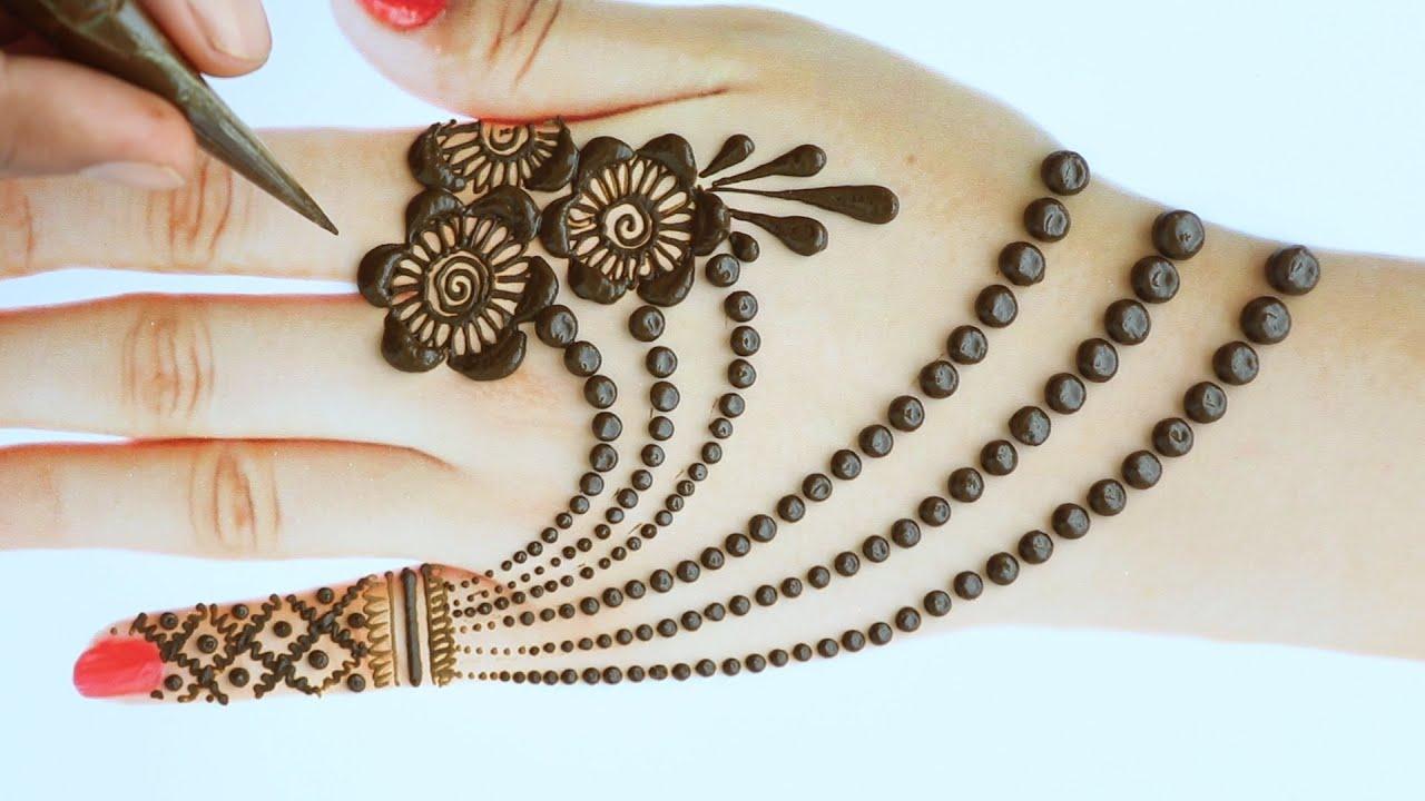 mehandi design on back hand