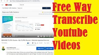 Need Content? How to Transcribe Youtube Video and Download Youtube Subtitles FREE