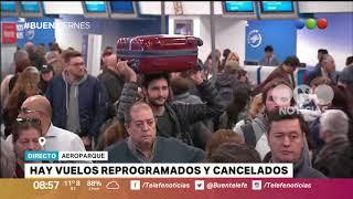 Vuelos reprogramados y cancelados en Aeroparque - Buen Telefe