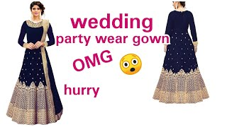 Unboxing anarkali semi stitch wedding gown#semi stitch wedding gown review