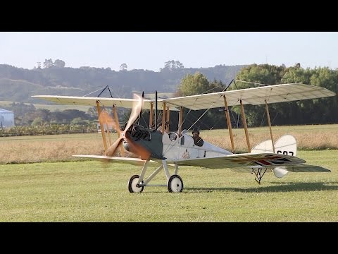 Royal Aircraft Factory 1912 B.E.2  First Flight From New Base  New Zealand 2016
