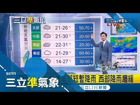 出門記得帶傘!東北季風增強全台有雨 北部+東北部傍晚開始降溫|氣象主播 黃家緯|【準氣象快報】20190414|三立新聞台