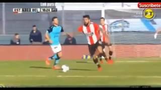 Gol de Javier Toledo - Estudiantes 1 -  0 Belgrano - Futbol de Argentina 2017 - Fecha 28