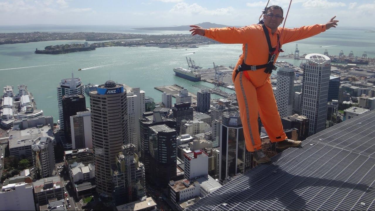 SkyWalk at Sky Tower, Auckland, New Zealand - YouTube